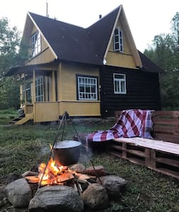 Уютный дом на берегу озера Язно