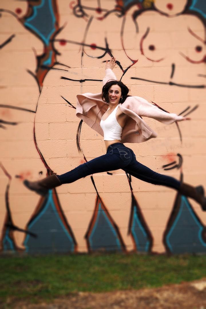 She leaps!