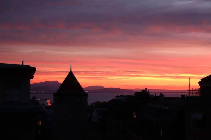 Joli appartement au centre de Lausanne avec vue