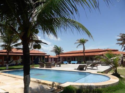 Villa tranquila e charmosa na Taiba 100 mts do MAR