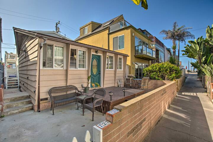 NEW! Mission Beach Studio w/ Deck - Walk to Ocean!