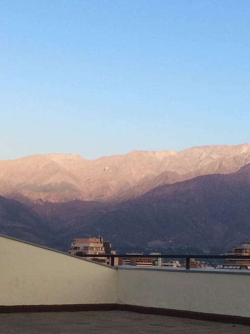 And you can have a wonderfull view of the Cordillera de Los Andes from the roof as well!