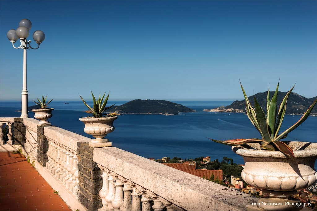 Some views of the Gulf of Lerici from our garden