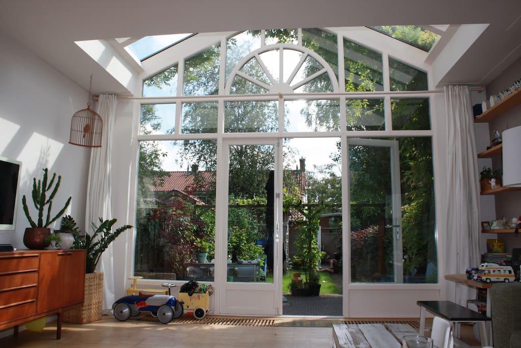 Amazing glass façade facing the south