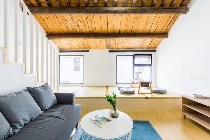 驻下 - 上海迪士尼乐园零距离/简洁北欧风格设计loft民宿