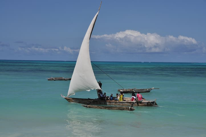 Dhow boat on the ocean