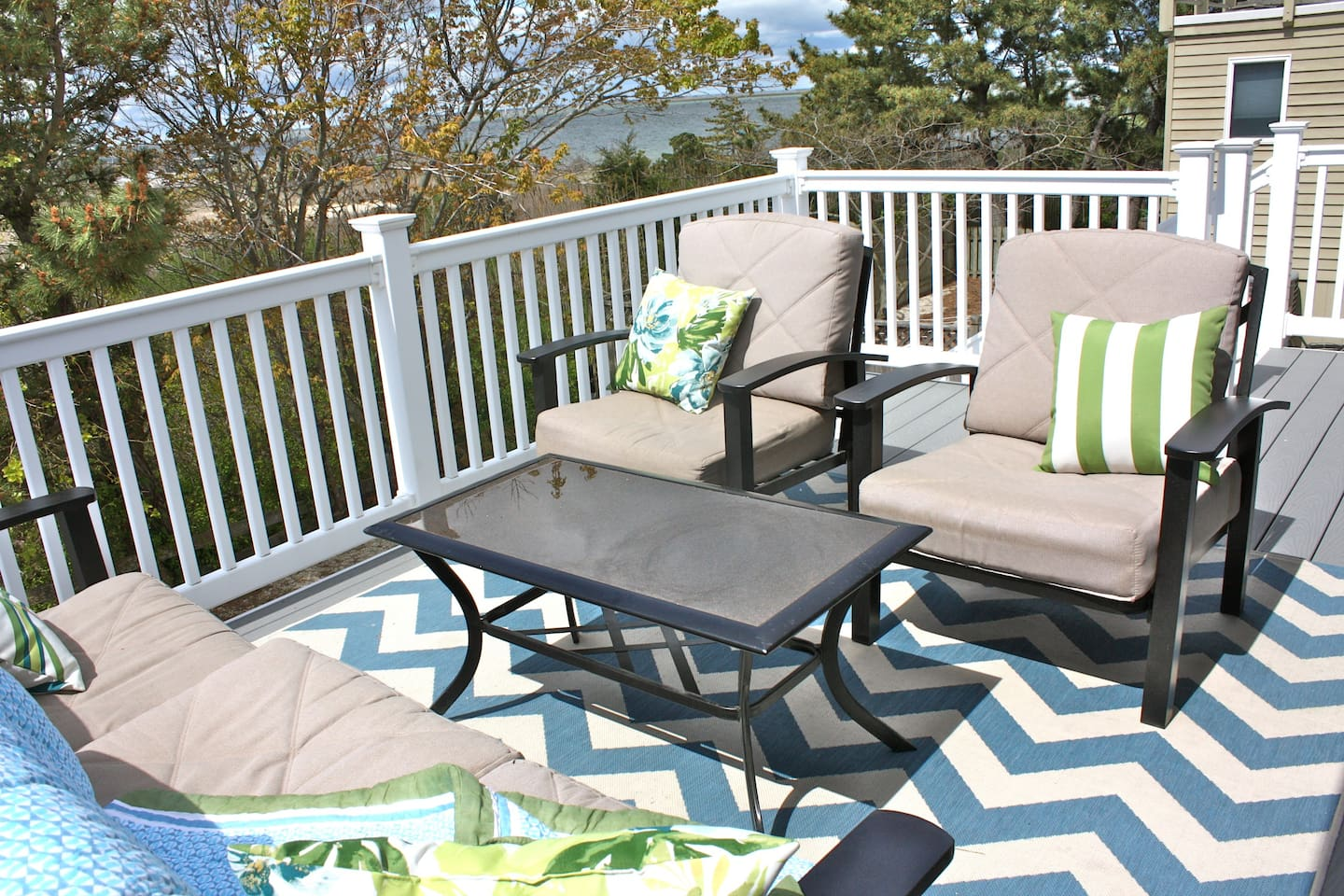 Enjoy gorgeous views of Barnegat Bay from both sides of the house, including incredible sunsets.