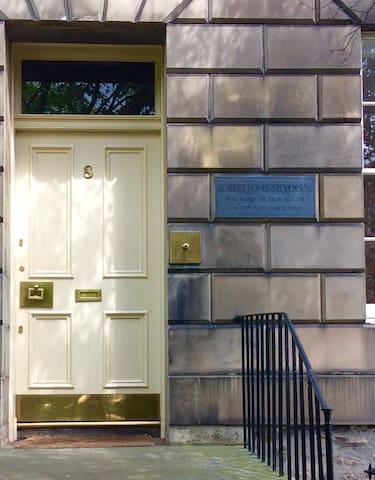 Nearby house where Robert Louis Stevenson was born