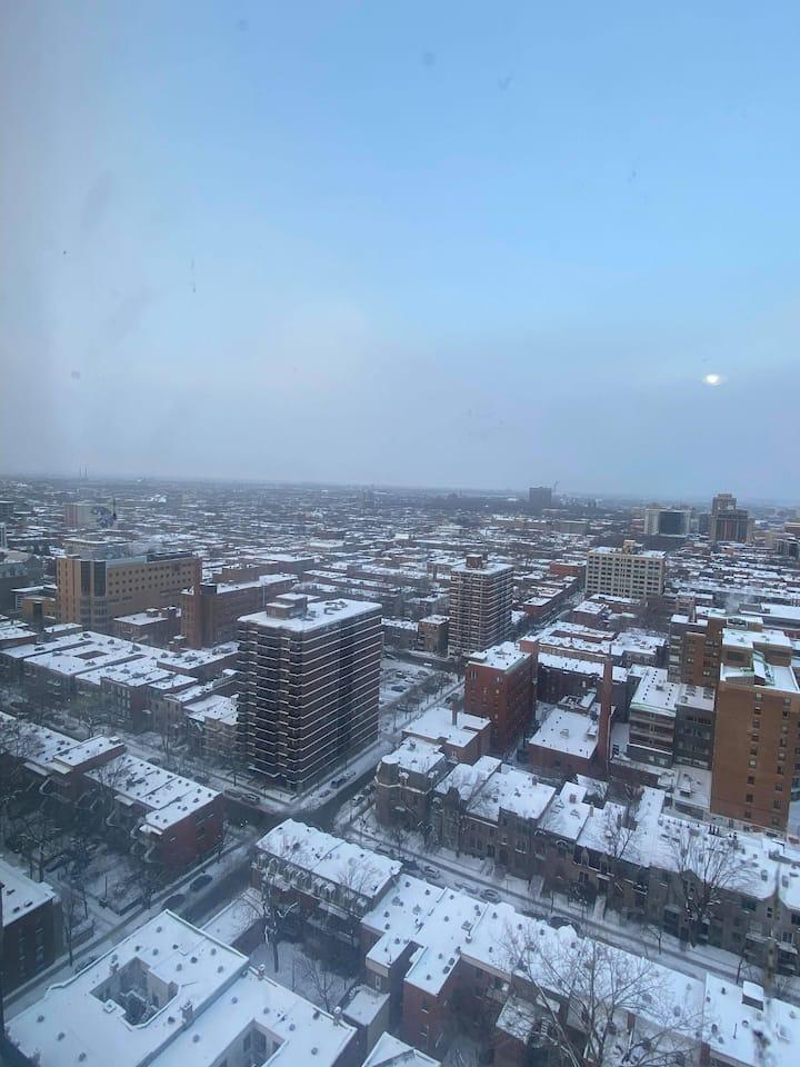 Downtown MTL Studio w/ panoramic view - 30th floor