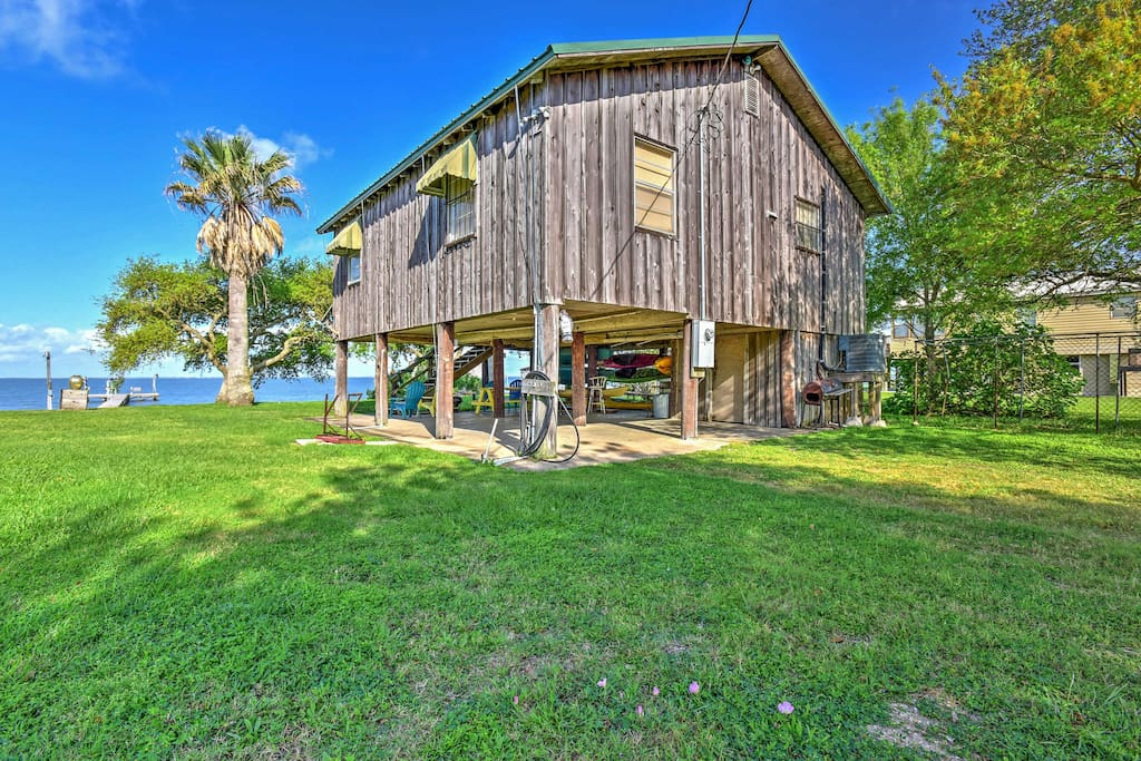 The stilted home boasts 900 square feet of comfortable living space.