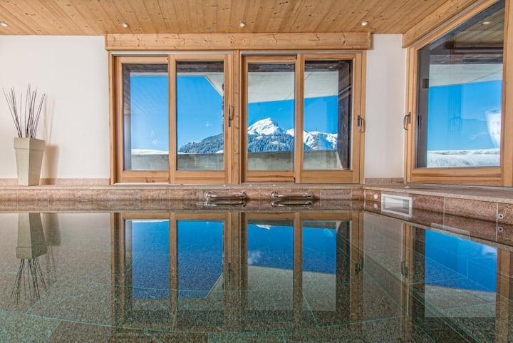 Chaletneuf du Tenne  Indoor pool and amazing views