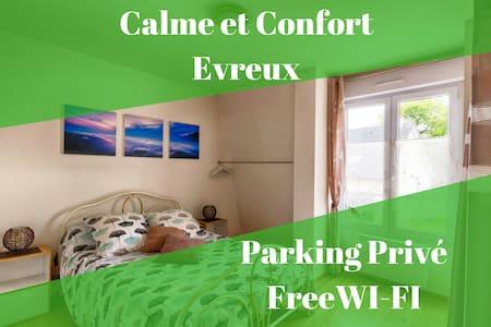 Evreux Duplex - Calme et Confort - Parking privé