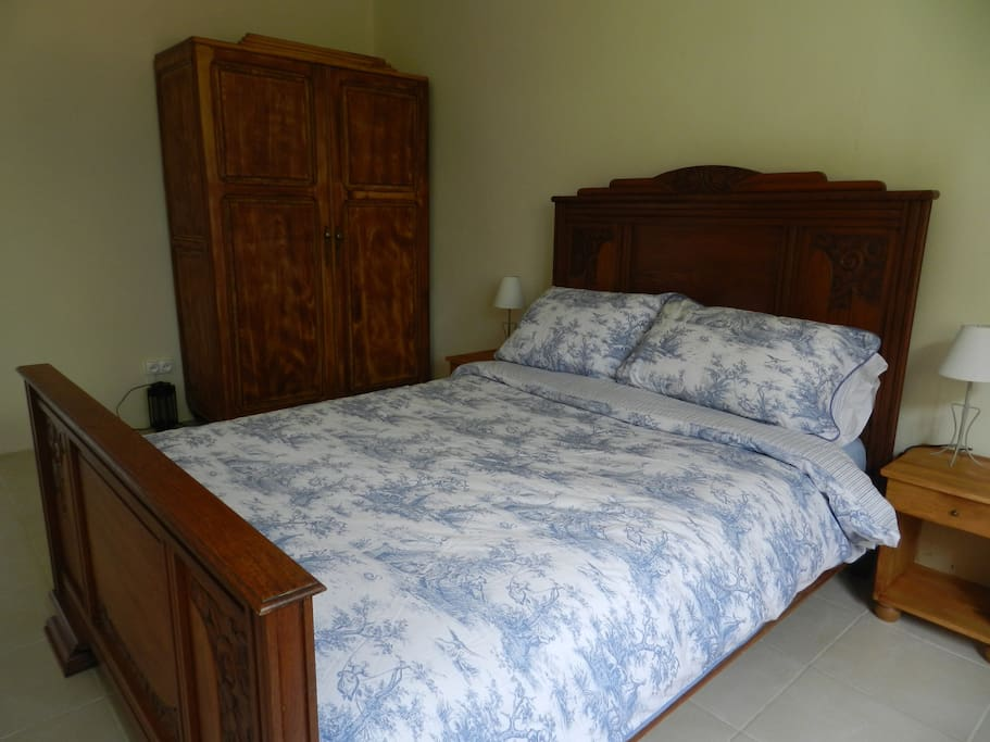 Comfortable bedroom in rural gite location