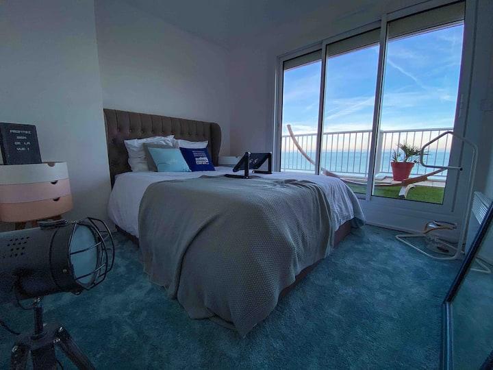 Appartement vue mer, avec grande terrasse