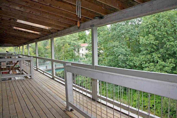 Rear Deck over River
