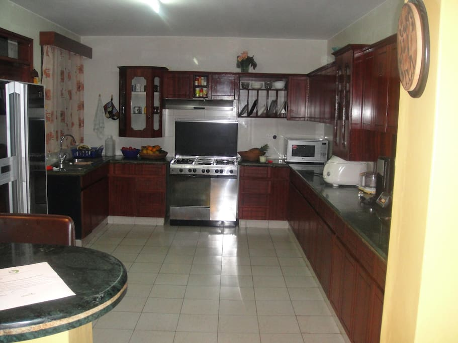 Very spacious kitchen with all facilities