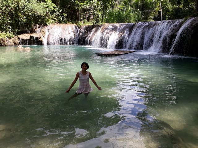 Mimi was in Cambugahay water fall , many tourism hotspots are in our area of lazi.