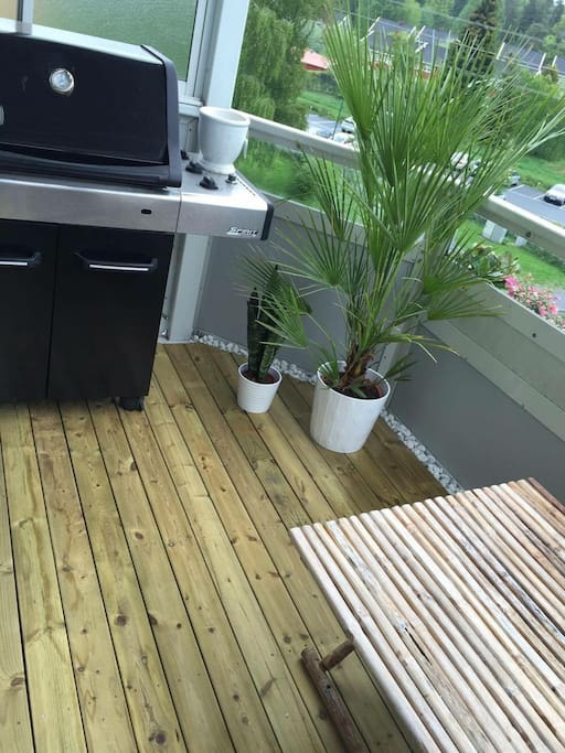 Balkong med grill