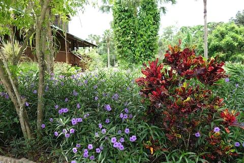 Private studio in a serene tropical farm