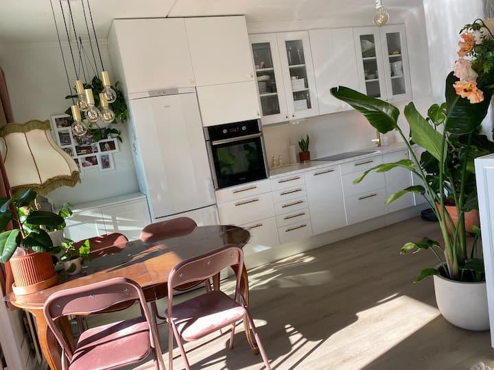 Cozy quiet apartment with nature around.🌲🌿🚆