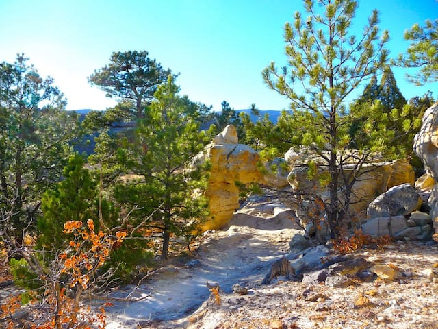 Ute Valley Park is about a five minute walk away with lots of great, scenic hiking trails.