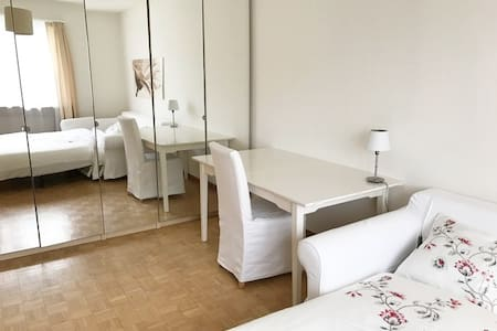 Sunny, quiet room, direct train from the airport - Zürich - Appartement