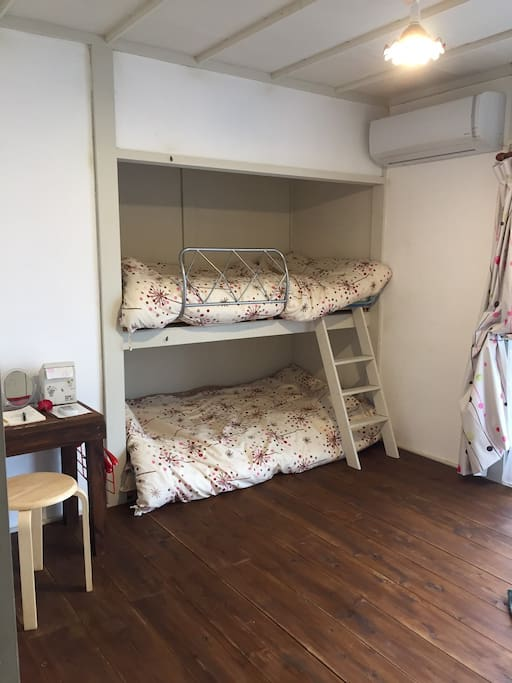 No1 and 2 Room  bunkbed-style has lock It is private room.