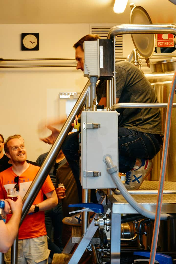 Learn from the brewers about production.