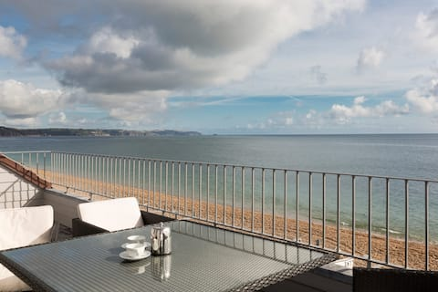 Torcross apartment, large Balcony.