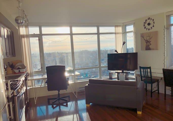 Vancouver 看得见风景的高层新公寓