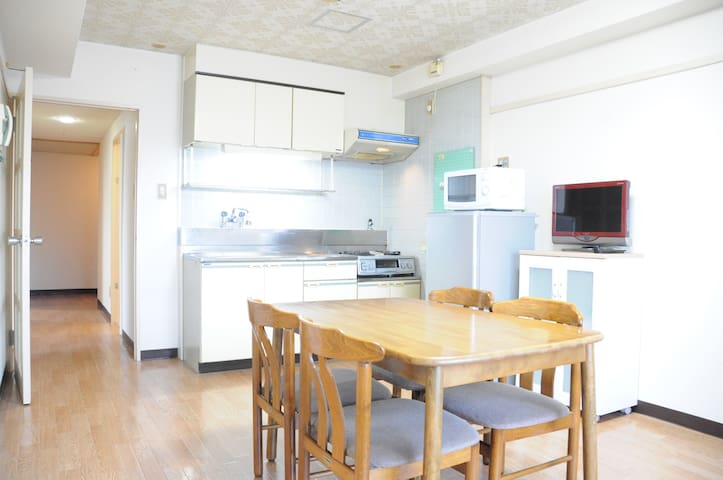 Free Wifi, 63㎡ 5min walk to Station check out 12pm - Asahikawa-shi - Appartement