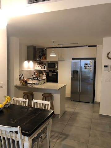 Specious kitchen with top end appliances