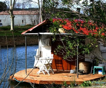Houseboat  with terrace on canal - Argens-Minervois - Boat
