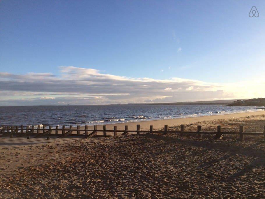 Beach (2 minute walk)