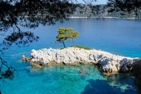 Greek Island Studio with spectacular views