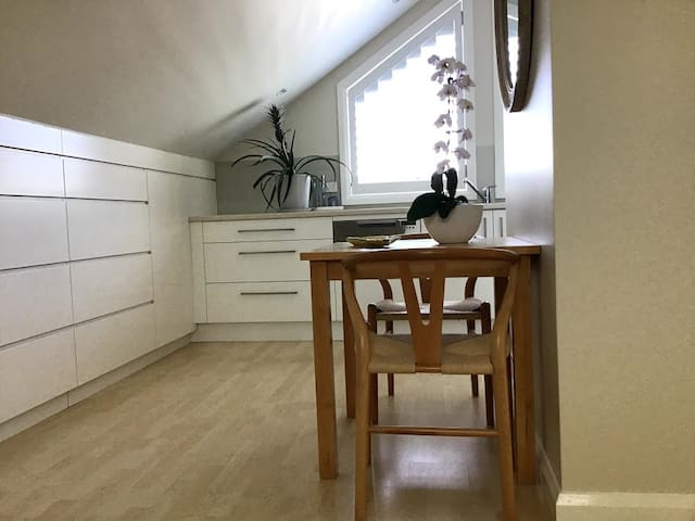 Bright, clean and  airy loft with fully self contained facilities including dishwasher. Close to Manly beaches and ferry.