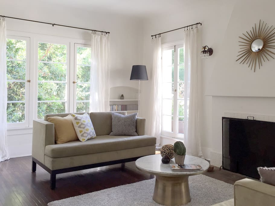 Bright and airy room with plenty of windows.