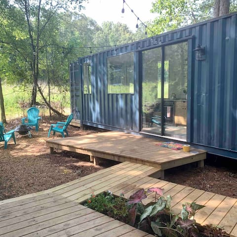Try a Tiny!  [modern shipping container retreat]