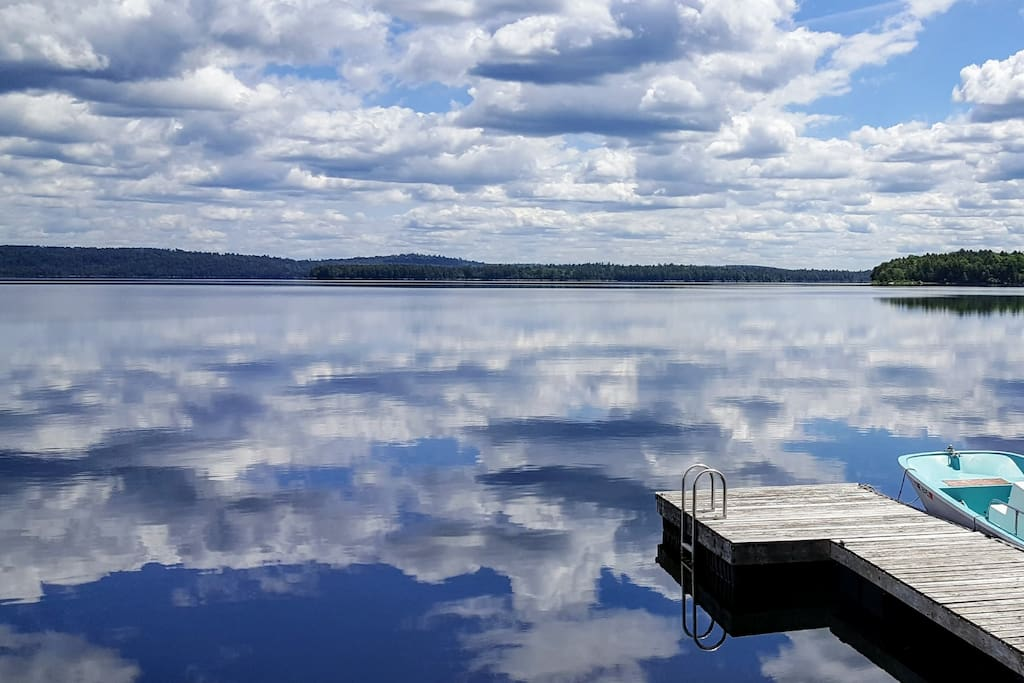 Cleanest lake in Maine.  (Our boat is not available for your use and won't be on the property during your visit.)