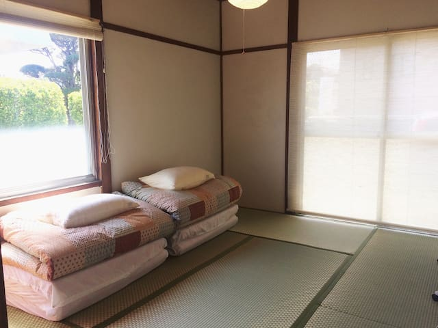 Tatami room/Free breakfast/8 mins from Fujisan sta