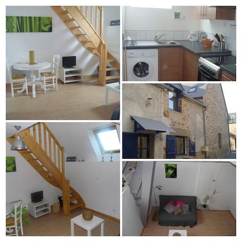 Duplex dans village de pêcheur  20 mn Mt St Michel - Le Vivier-sur-Mer - Apartamento