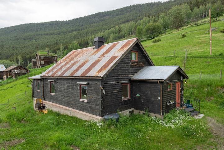 An older house on a small farm.
