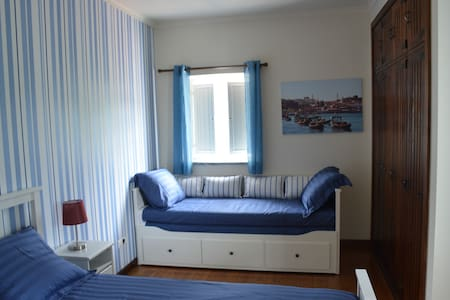 Kamer White Blue Stripes