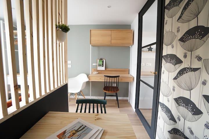 Studio design la Genette - jardin et WIFI