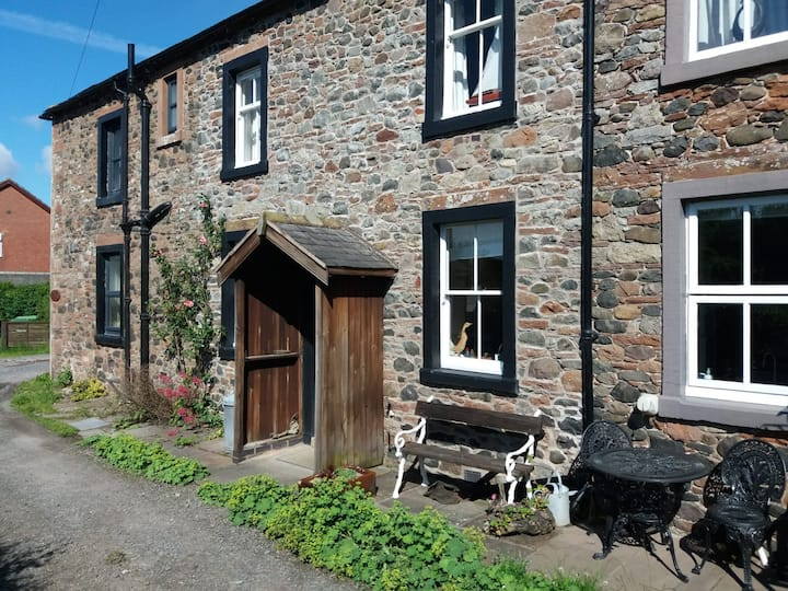 Rose cottage on the peaceful solway coast