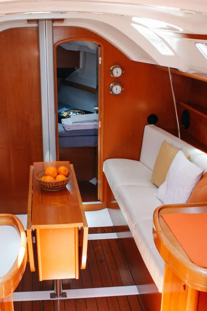 Interior of sail boat
