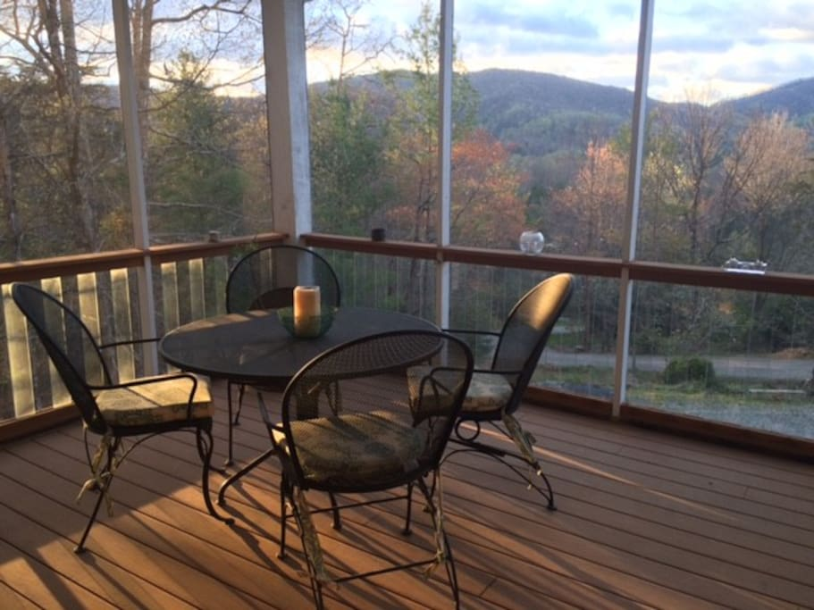 Awesome view; screened front porch