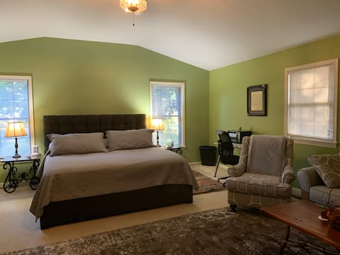 Spacious room with private entrance.