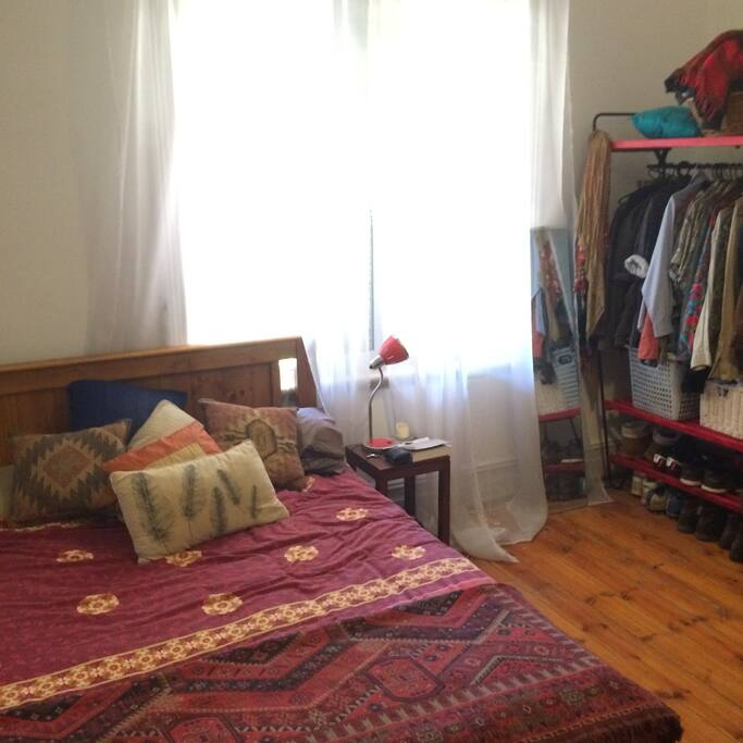Bed/Desk/ Wooden Cupboards and Open Wardrobe included.