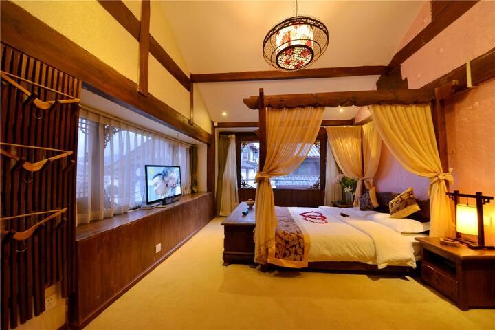 丽江大研古城 栖迟客栈 蜜月房 - Lijiang - Dormitorio para invitados